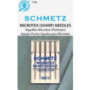 1730 Schmetz Microtex (sharp) needles, sz 12/80